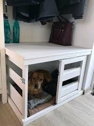 hundebox holzbox weiß kennel shabby chic landhaus in