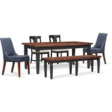 Adler Dining Table 2 Side Chairs Upholstered And Bench