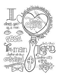 Look In My Heart Coloring Page 85X11 Bible Journaling Tip 6X8