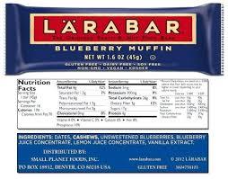 Larabar Nutrition Banana Bread Cashew Cookie Facts