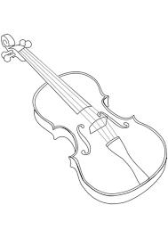 Click To See Printable Version Of Violin Coloring Page