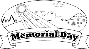 Usa Flag Memorial Day Coloring Page
