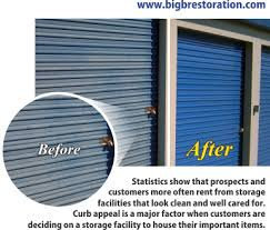 Metal Building Roll Up Doors Cleaning And Sealing Process Makes Them Look New Again