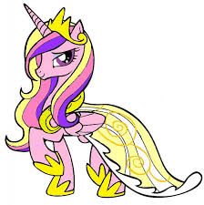 Princess Pony Coloring Pages Cadence My Little Page By