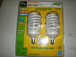 sylvania 2 pack 23 watt 100w spiral candelabra base soft white