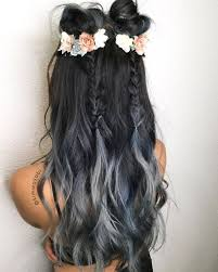 Coachella Hair ready Midnight Blue Silver Smoke hair☑ Braids