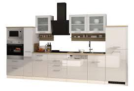 küchenzeile münchen vario 4 küche mit e geräten breite 370 cm hochglanz weiß
