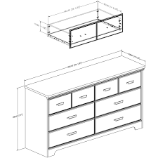 Cheap South Shore Dressers by South Shore Furniture Versa 6 Drawer Double Dresser 9041010 Ebay