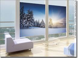 fensterbild schneelandschaft selbstklebende folie