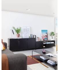 lama schwarzes metall sideboard oder tv schrank industrial design