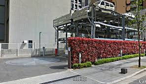 100 Car Elevator Garage Quadruple Decker Parking Osaka Japan Google