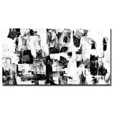 Painting Black And White Abstract