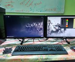 Monitor Shelf For Desk by Diy Dual Monitor Stand For Less Than 10 5 Steps With Pictures