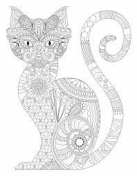 Cat Entangle Coloring Pages Colouring Adult Detailed Advanced Printable Kleuren Voor Volwassenen Coloriage Pour Adulte Anti