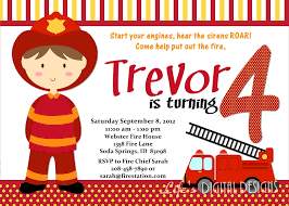 Firefighter Birthday Invitation Ideas – FREE Printable Birthday ...