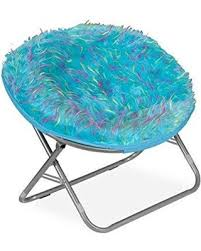 deals on your zone spiker faux fur saucer chair multiple colors