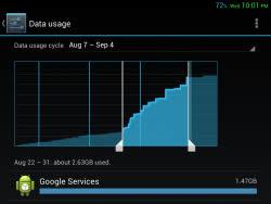 google services data usage