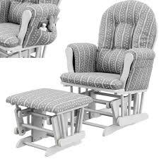 100 Comfy Rocking Chairs Amazoncom Glider Ottoman Set White Grey Polyester Microfiber