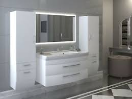 details zu badezimmermöbel set rom hochgl weiß weiss mit spiegel