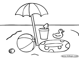 Beach Umbrella Colouring Pages Page 2 Coloring