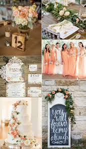 Romantic Peach Flower Inspiration For Spring Weddings