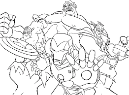 Marvel Avengers Coloring Pages