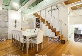 innenansicht breite loft esszimmer stockfoto und mehr bilder architektur
