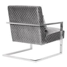 Armen Living Barrister Chair by Living Skyline Contemporary Accent Chair In Gray Velvet With