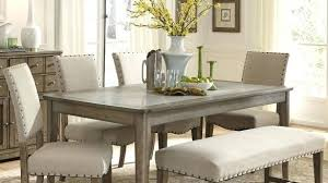 Dining Room Bench Sets Rustic Casual 6 Piece Table And Chairs Set With By