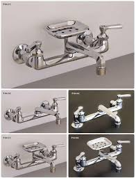 wall mount faucet for a kitchen sink handsome design from strom