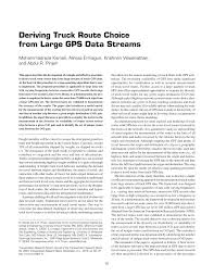 100 Gps Truck Route PDF Deriving Choice From Large GPS Data Streams