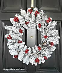Pine Cone Christmas Tree Tutorial by Pine Cone Wreath Tutorial Vintage Paint And More