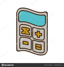 bureau des finances dessin animé calculatrice bureau des finances d objetc image