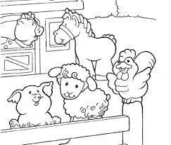 Download Coloring Pages Farm Animal