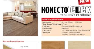 Konecto Flooring Cleaning Products by New Series For 4mm Vinyl Konecto Click Vertex Floors