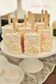 Rice Krispie Treats On Sticks From A Rustic Chic Engagement Party Via Karas Ideas