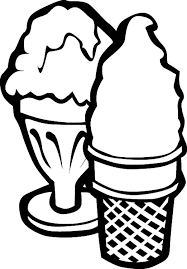 Ice Cream Serving With Cup And Cone Coloring Page