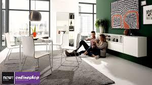 hülsta now easy esszimmer bundle tisch stühle sideboard und vitrine mit regal