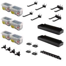 Rubbermaid Tool Shed Accessories by Rubbermaid Fasttrack Garage Wall Panel Accessory Kit 13 Piece
