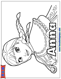 Pretty Anna Of Disney Film Frozen Coloring Page