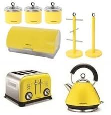 Morphy Richards 8pc Kitchen Set Kettle Toaster In Yellow