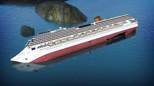 costa concordia wreck raised from under sea platform bbc news
