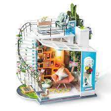 2019 DIY Model Doll House Casa Miniature Dollhouse With Furnitures