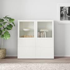 bestå storage combination w glass doors white vassviken