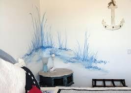 wand streichen schlafzimmer wandfarbe weiss blau wandmalerei
