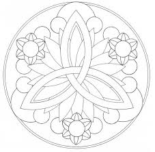 Easy Mandala Coloring Pages 1