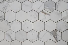 4 hexagon calacatta gold polished marble mosaic tiles rocky