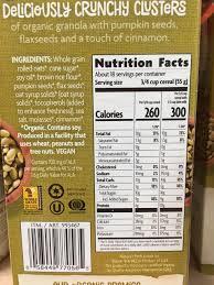 Pumpkin Flaxseed Granola Nutrition Info by Nature U0027s Path Flax Plus Pumpkin Flax Granola Calories Nutrition
