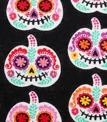 Foam Pumpkins Bulk by Halloween Cotton Fabric 43