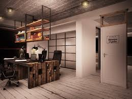 it office industrial style interiors designed by ezzo design